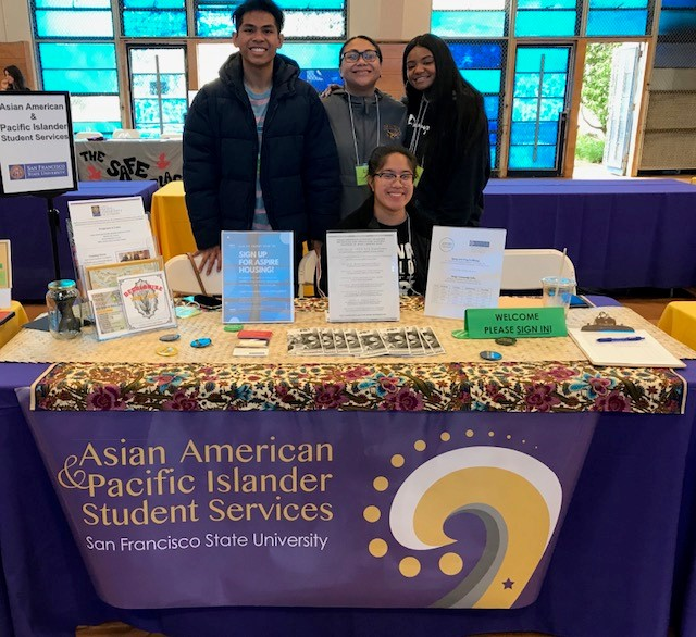 Asian American & Pacific Islander Student Services tabling during Sneak Preview 2019