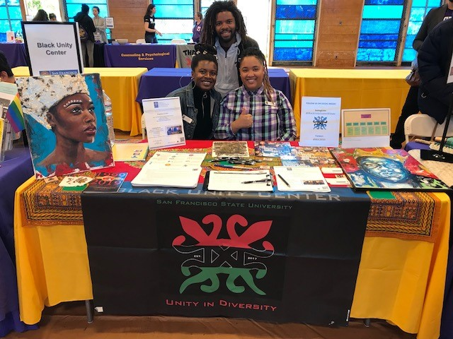Black Unity Center tabling during Sneak Preview 2019