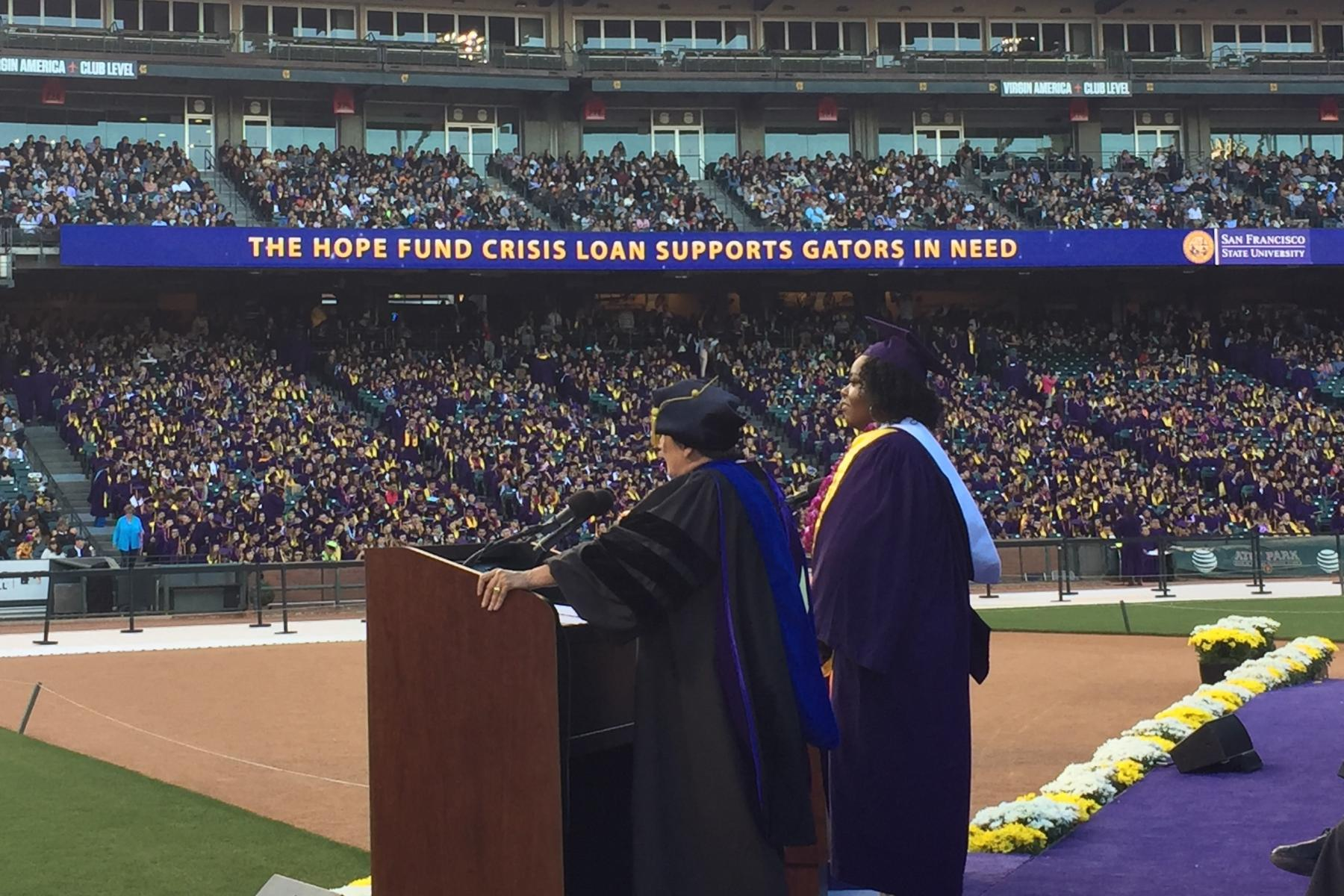 SF State Commencement at AT&T Park on May 27, 2016
