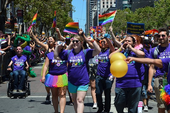 SF State Contingency at SF Pride Parade, June 29, 2014